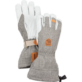 Hestra M's Army Leather Patrol Gauntlet Gloves light grey